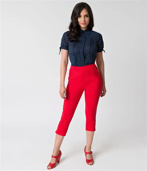 High Waisted Fashion by Vintage High Waisted Trousers Sailor