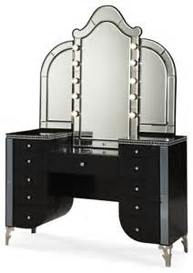 Vanity Mirror And Desk Swank Starry Upholstered Vanity With