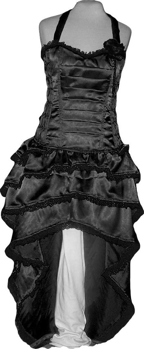 Black Corset Rose bustle Dress Designer Evening Cocktail Party ( Gothic EMO Lolitta ), FASHION