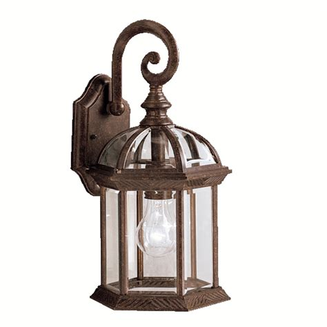 Portfolio Outdoor Lighting Shop Portfolio Barrie 15 5 In H Tannery Bronze Outdoor Wall Light At Lowes