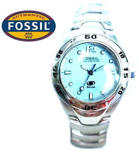 Women S Watches Fossil Blue 100m Ladies Diver Watch