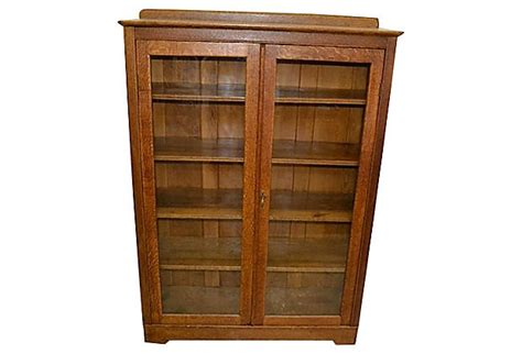 Oak Bookcase With Doors Oak Doors Oak Bookcase With Glass Doors