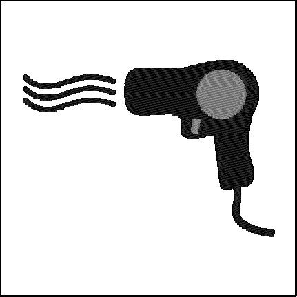 Hair Dryer Di Malang dryer embroidery design