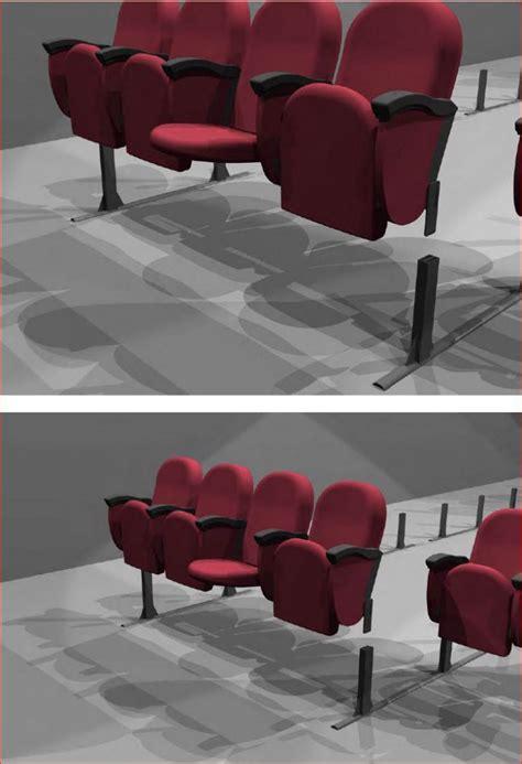 sieges cinema si 232 ges confort cinema pour salle polyvalente sur rail cal z