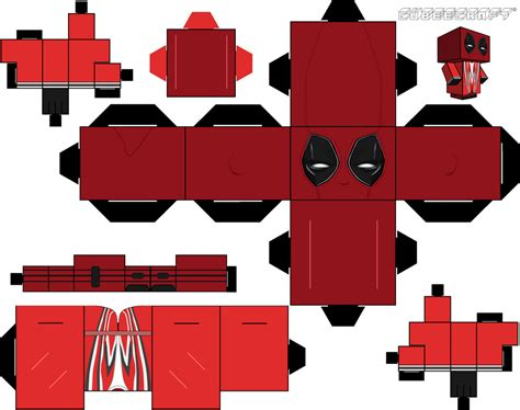 Cubeecraft Papercraft - deadpool cubeecraft after titre by jagamen on deviantart