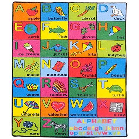 Mybecca Alphabet Chart Large Classroom Kids Rug Area 5 X Alphabet Rug