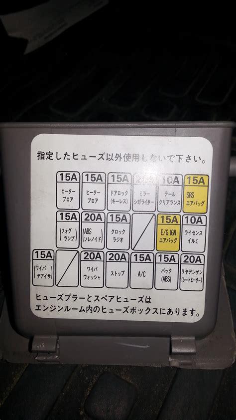 1998 subaru fuse box free wiring diagrams