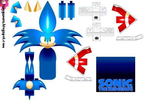 Sonic The Hedgehog Paper Crafts - paper crafts sonic hedgehog