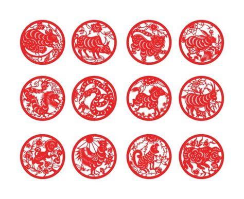 new year paper cutting patterns 干支紙カット ベクター材料 無料素材イラスト ベクターのフリーデザイナー