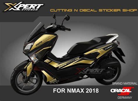 jual stiker nmax gold cutting sticker nmax hitam