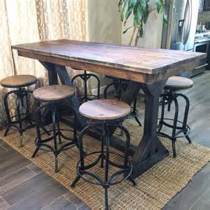 Rustic Bistro Table And Chairs Rustic Pub Table By Sweetnettajean On Etsy