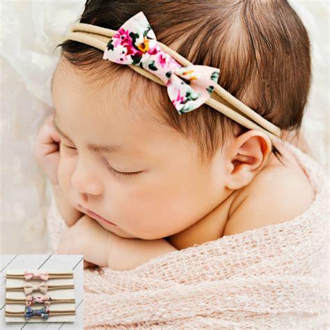 baby headband set baby headband small bows baby bows mini bow set of 4 newborn baby headband set