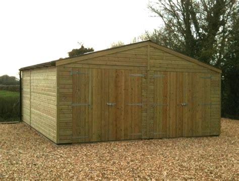 Wooden Garage Timber Garages Workshops Ideal Range