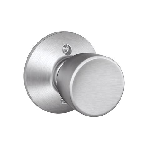 Schlage Chrome Door Knobs shop schlage f bell satin chrome dummy door knob at lowes