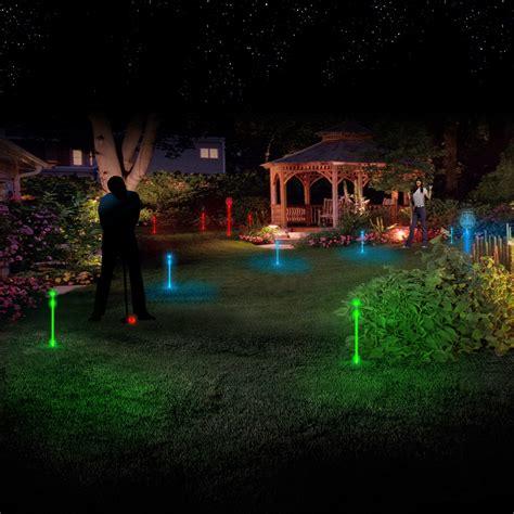 backyard night backyard night golf set 3 led balls 24 led markers
