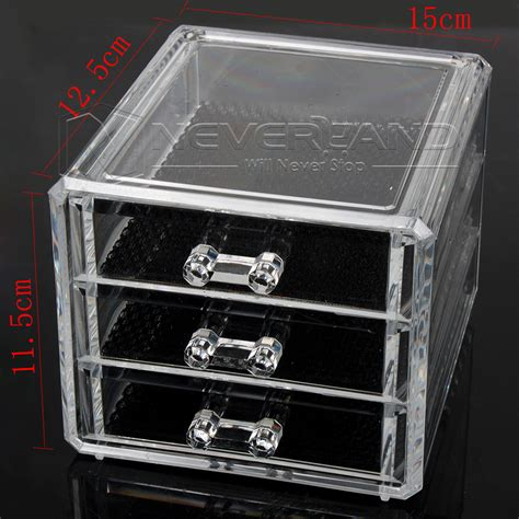 clear makeup drawers nz acrylic clear makeup box cosmetic organiser drawers holder
