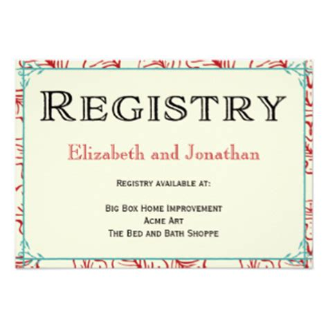 Gift Card Registry For Wedding - registry cards for wedding etiquettes to follow
