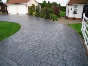 concrete driveways pattern imprinted concrete