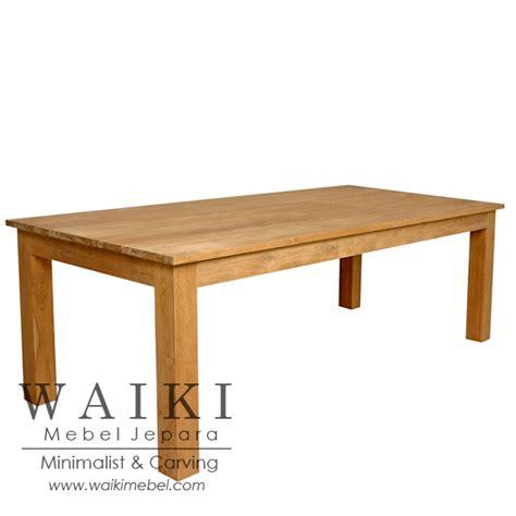 meja makan panjang jati waiki mebel