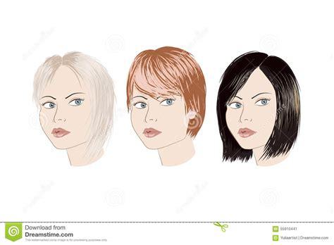 trois avec la coupe de cheveux diff 233 rente