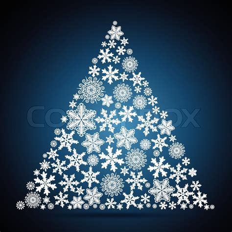 christmas tree snowflake design background stock vector