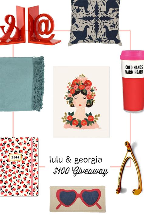Lulu Gift Card - lulu and georgia 100 gift card giveaway in honor of design