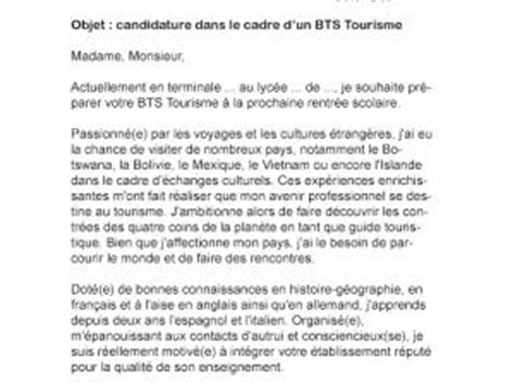 Bts Design De Mode Lettre De Motivation Lettre De Motivation Bts Tourisme Par Lettreutile