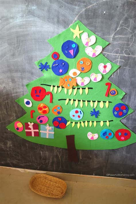 christmas tree crafts for preschool easy to make diy felt tree activity for