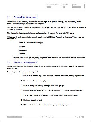 11 request for proposal sle proposal template 2017