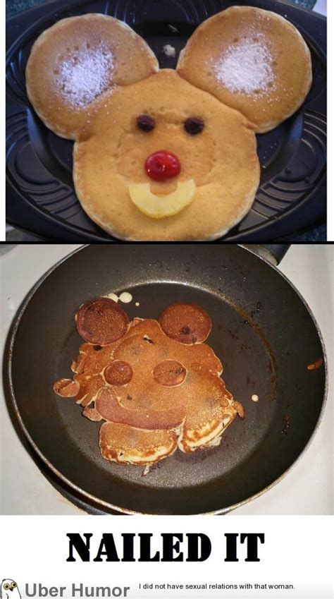 wife    mickey mouse pancakes funny pictures quotes pics  images