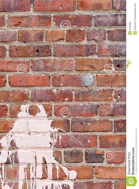 brick wall with splash of paint royalty free stock image image 5490686