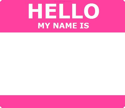 hello my name is template hello id template pink by the fuzzy on deviantart