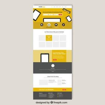Premium Web Templates Vectors By Freepik Thousands Of Files In Ai Eps Svg Format Yellow Pages Website Template Free