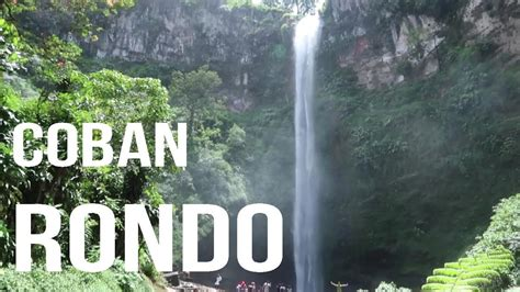 wisata air terjun coban rondo batu malang youtube