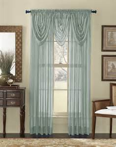 Sheer Valance Curtains Platinum Voile Flowing Sheer Waterfall Valance Curtainworks
