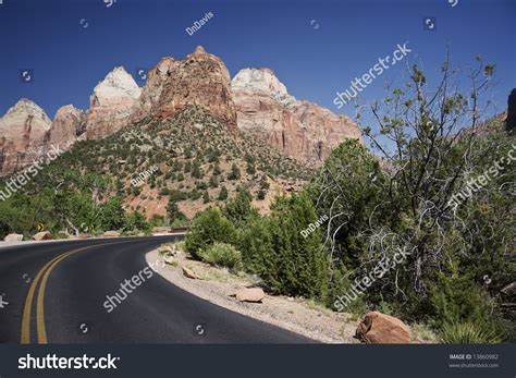through our unknown southwest the of the united states known and unappreciated the home of the cliff dweller and the hopi the lure of the painted desert classic reprint books asphalt road leading through zion national stock photo