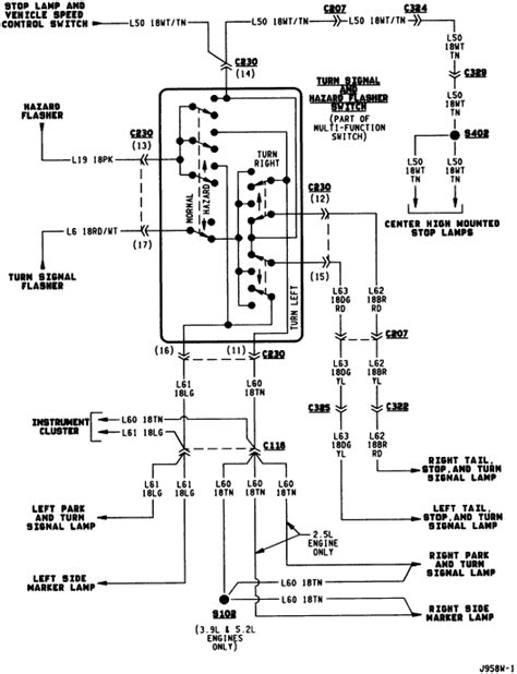 1994 dodge dakota wiring diagram light dakota