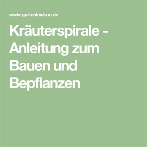Terrassengestaltung Mit Holz 2037 by Die 25 Besten Ideen Zu Kr 228 Uterspirale Bauen Auf
