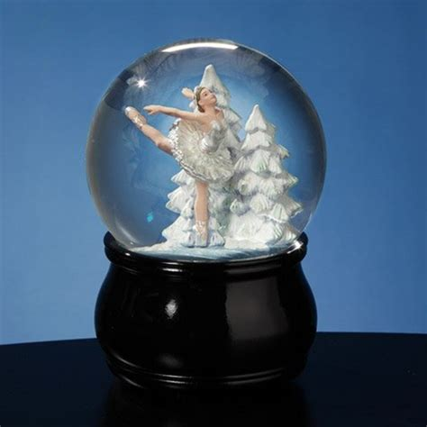 balmwg 004 turning ballerina musical snow globe plays serenade by shubert swan lake ballet musical snow globe
