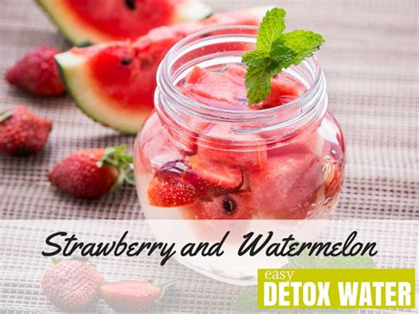 Detox Water With Only Strawberries by Strawberry And Watermelon Detox Water Easy Detox Water