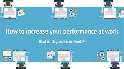 how to improve workflow how to increase your performance at work