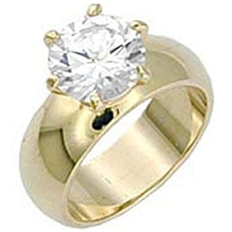 solitaire wide band engagement ring yellow gold ep 4