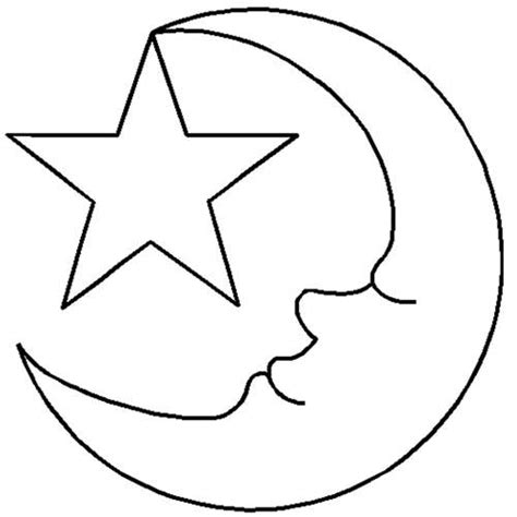 coloring page half moon quilt stencils by hari walner 3 1 2 quot moon star