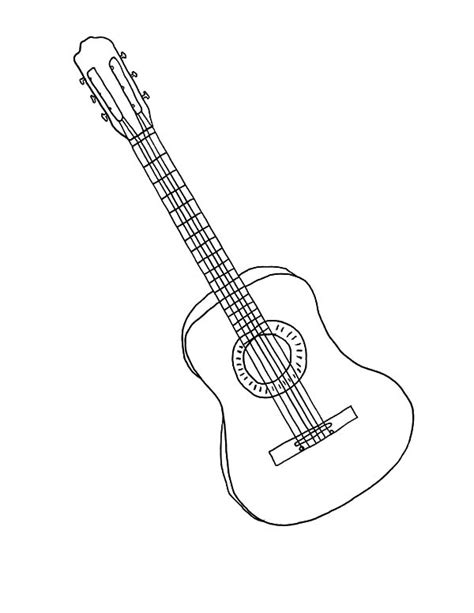 guitar coloring pages the musician of the south