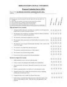 Program Evaluation Survey Template by Program Evaluation Survey