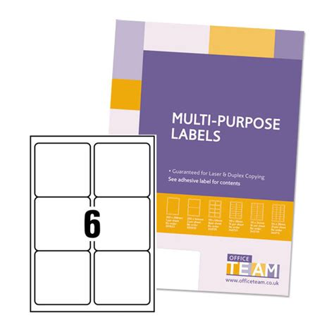 Office Temp by Officeteam Multipurpose Labels 99x93mm From Ocado