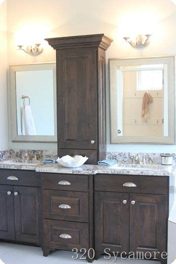 Bathroom Vanity Storage I Like This Bathroom Vanity With Storage Between The Two Sinks Home Bathroom