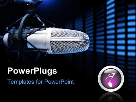 Template Powerpoint Radio | powerpoint template a radio mike along with music