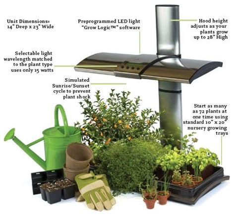 grow lights for indoor herb garden led kitchen garden alternative countertop herb garden