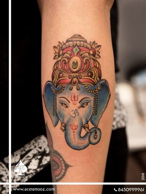 small ganesh tattoo lord ganesha tattoos ace tattooz studio mumbai india